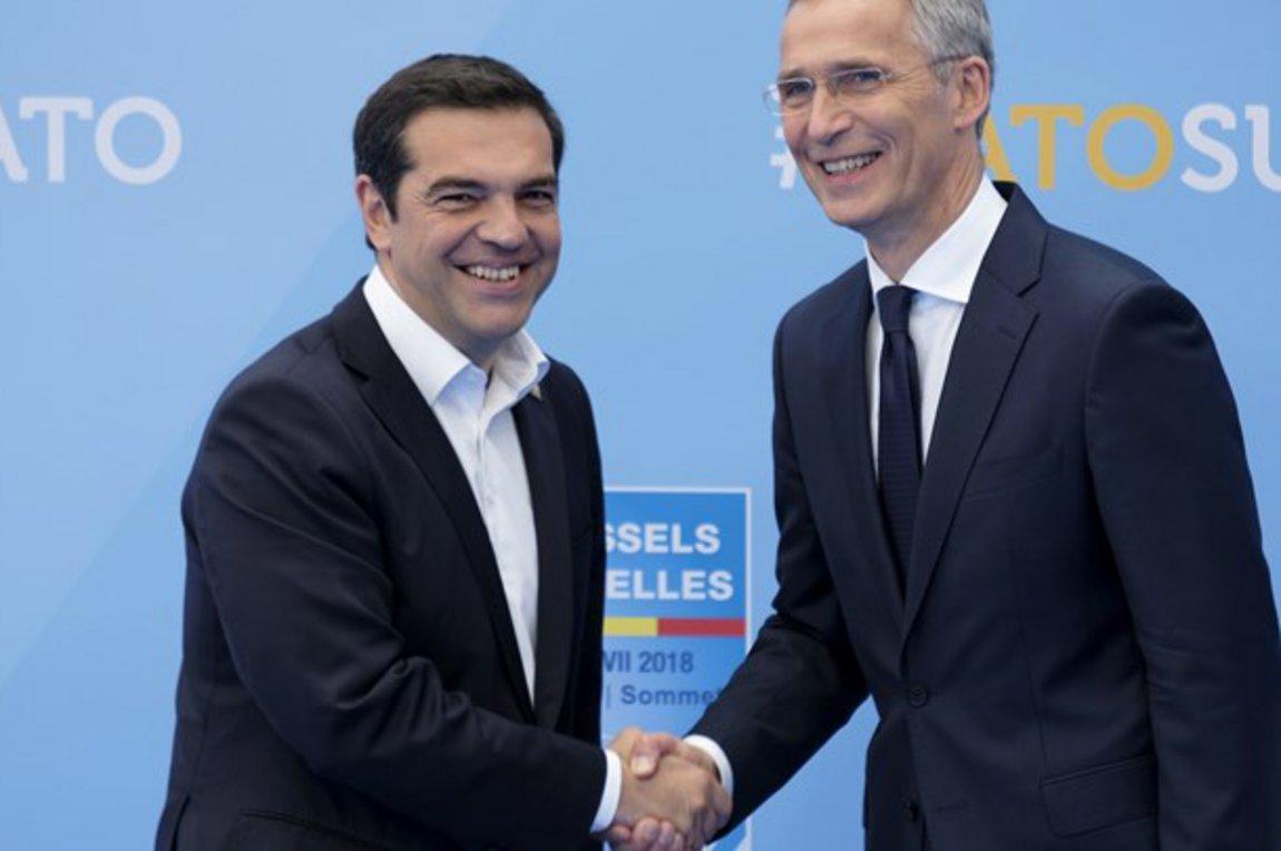 Ελληνας Πρωθυπουργός Αλέξης Τσίπρας, Γενικός Γραμματέας ΝΑΤΟ, Γενς Στόλτενμπεργκ