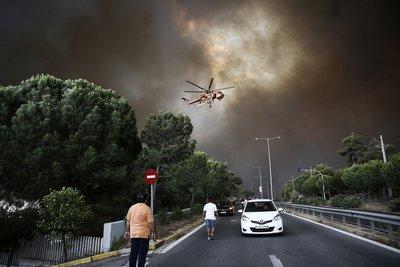 Κυκλοφοριακές ρυθμίσεις στη λεωφόρο Μαραθώνος λόγω πυρκαγιάς
