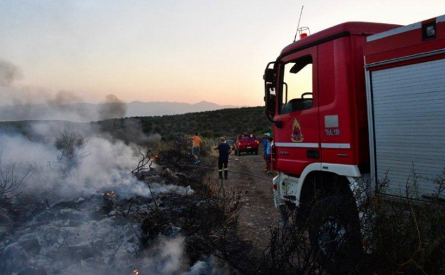Καλαμάτα: Φωτιά στην περιοχή Καρτελάς της Κυπαρισσίας