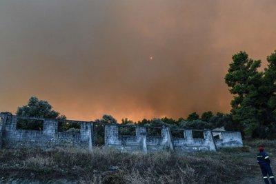 Σε ύφεση η πυρκαγιά στον δήμο Δίρφης - Μεσσαπίων στην Εύβοια