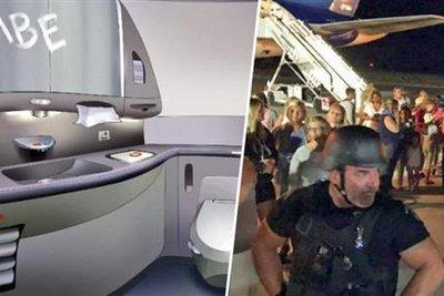 Με σαπούνι έγραψαν «βόμβα» στο αεροπλάνο που έκανε αναγκαστική προσγείωση στα Χανιά