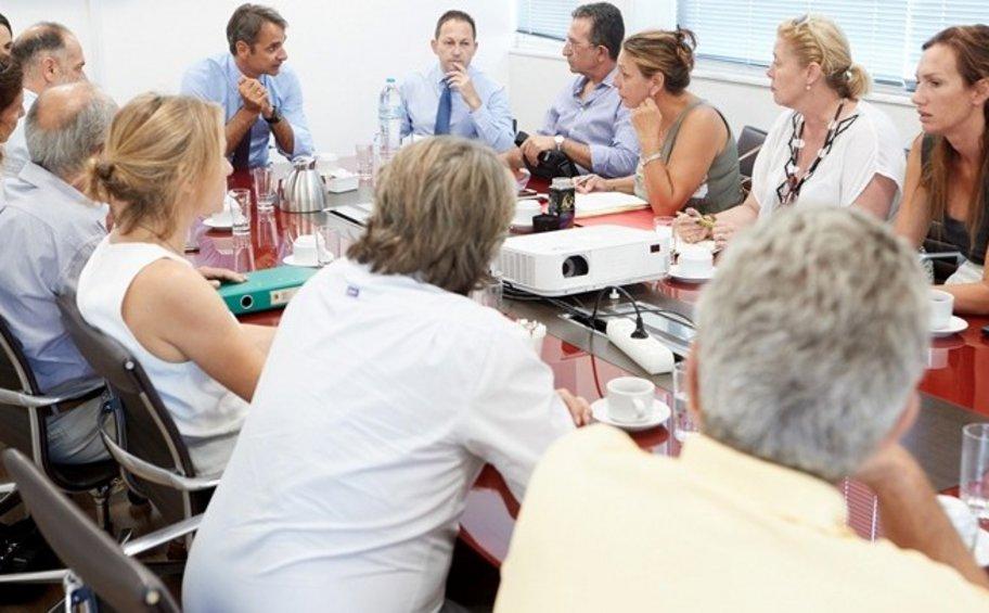 Συνάντηση Μητσοτάκη με συντονιστική επιτροπή κατοίκων από Μάτι και Ν. Βουτζά