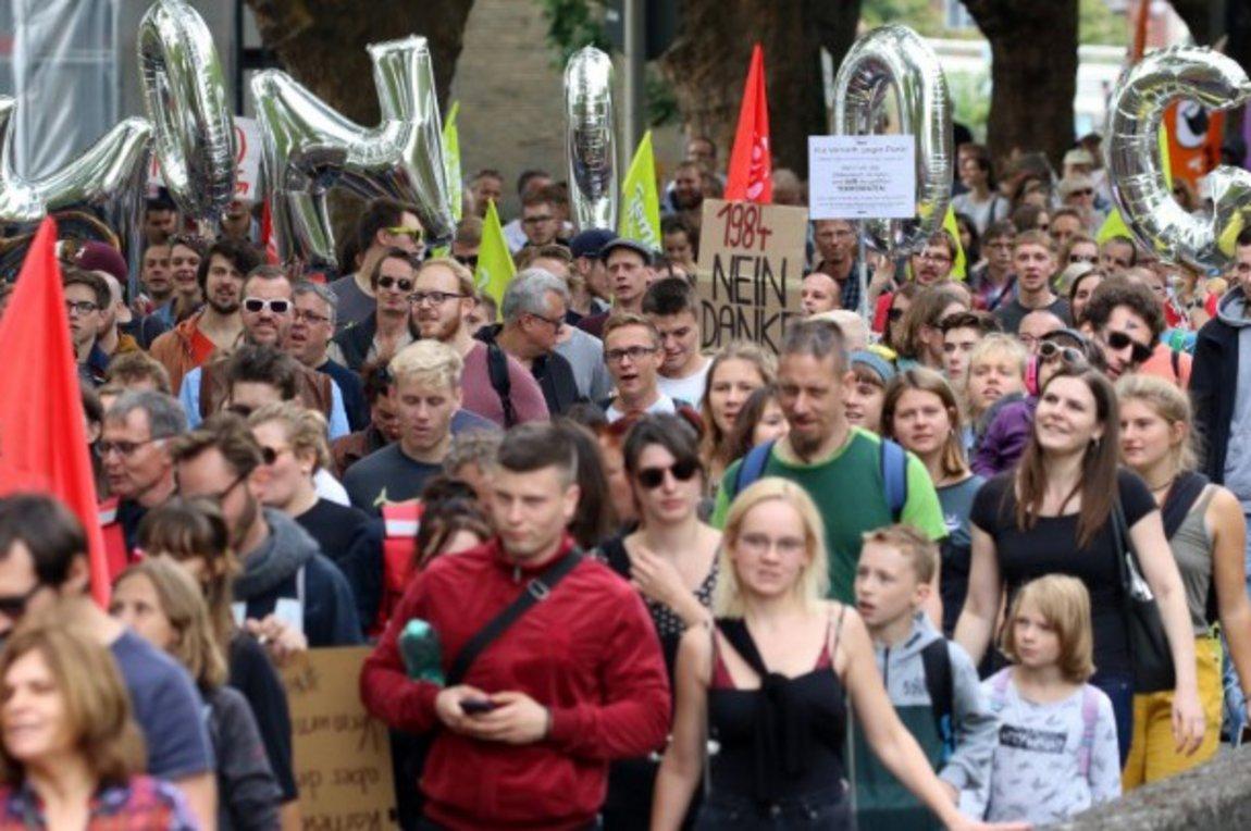 Διαδήλωση στο Ανόβερο κατά του αντιτρομοκρατικού νομοσχεδίου