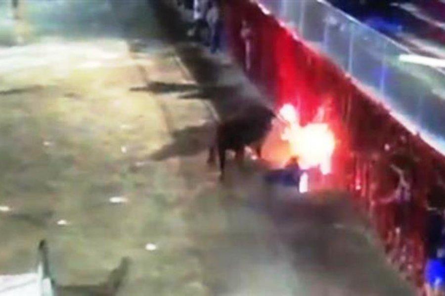 Φλεγόμενος ταύρος σκότωσε θεατή σε φεστιβάλ ταυρομαχιών