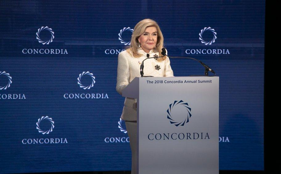 Η Μαριάννα Β. Βαρδινογιάννη στο Concordia Summit