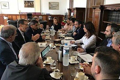 Συνάντηση Κ. Νοτοπούλου με τη διοίκηση της ΔΕΘ-HELEXPO