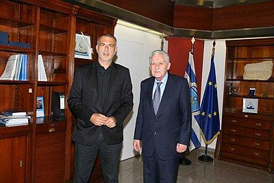 Το master plan του ΟΛΠ στο επίκεντρο συνάντησης του δημάρχου Πειραιά με τον υπουργό Ναυτιλίας