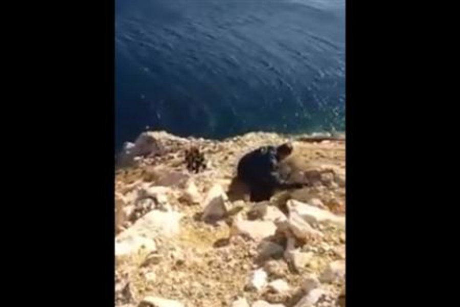 Βίντεο από τη διάσωση 34χρονου που έπεσε σε γκρεμό στη Χίο