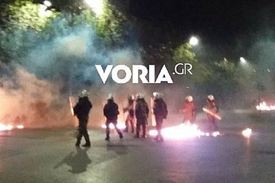 13 προσαγωγές και μία σύλληψη για τα επεισόδια στη Θεσσαλονίκη