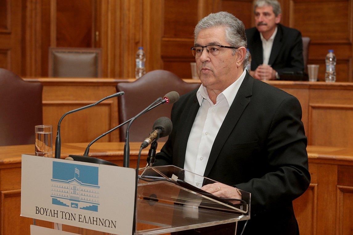 Τις προτάσεις του ΚΚΕ για τη συνταγματική αναθεώρηση, παρουσίασε ο Δ. Κουτσούμπας
