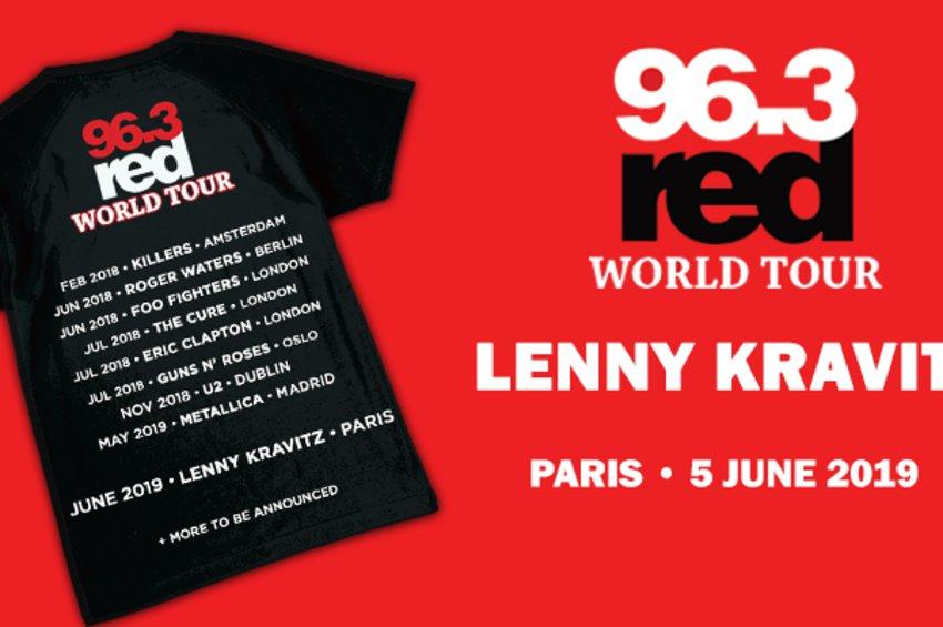 Διαγωνισμός Red World Tour: Lenny Kravitz Live στο Παρίσι