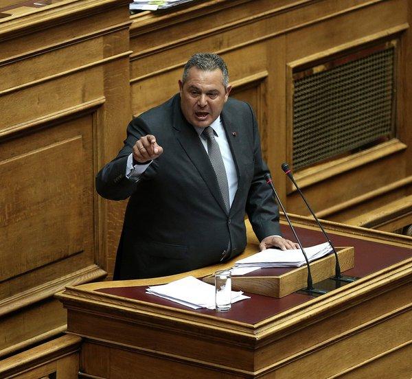 Καμμένος: Αν έρθει η Συμφωνία των Πρεσπών στη Βουλή θα αποσύρω υπουργούς και βουλευτές από την κυβέρνηση