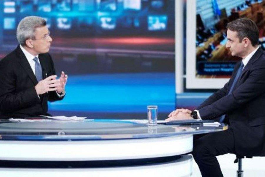 Υψηλή τηλεθέαση για την συνέντευξη του Κυριάκου Μητσοτάκη στον ΑΝΤ1