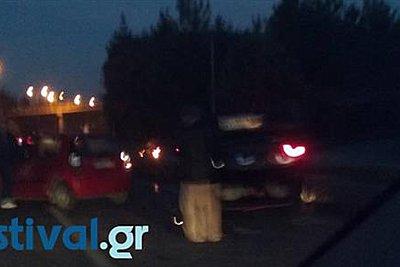 Καραμπόλα τουλάχιστον 10 οχημάτων στην Θεσσαλονίκη