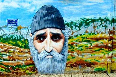 Το γκράφιτι με τον Άγιο Παΐσιο που εντυπωσιάζει στη Θεσσαλονίκη
