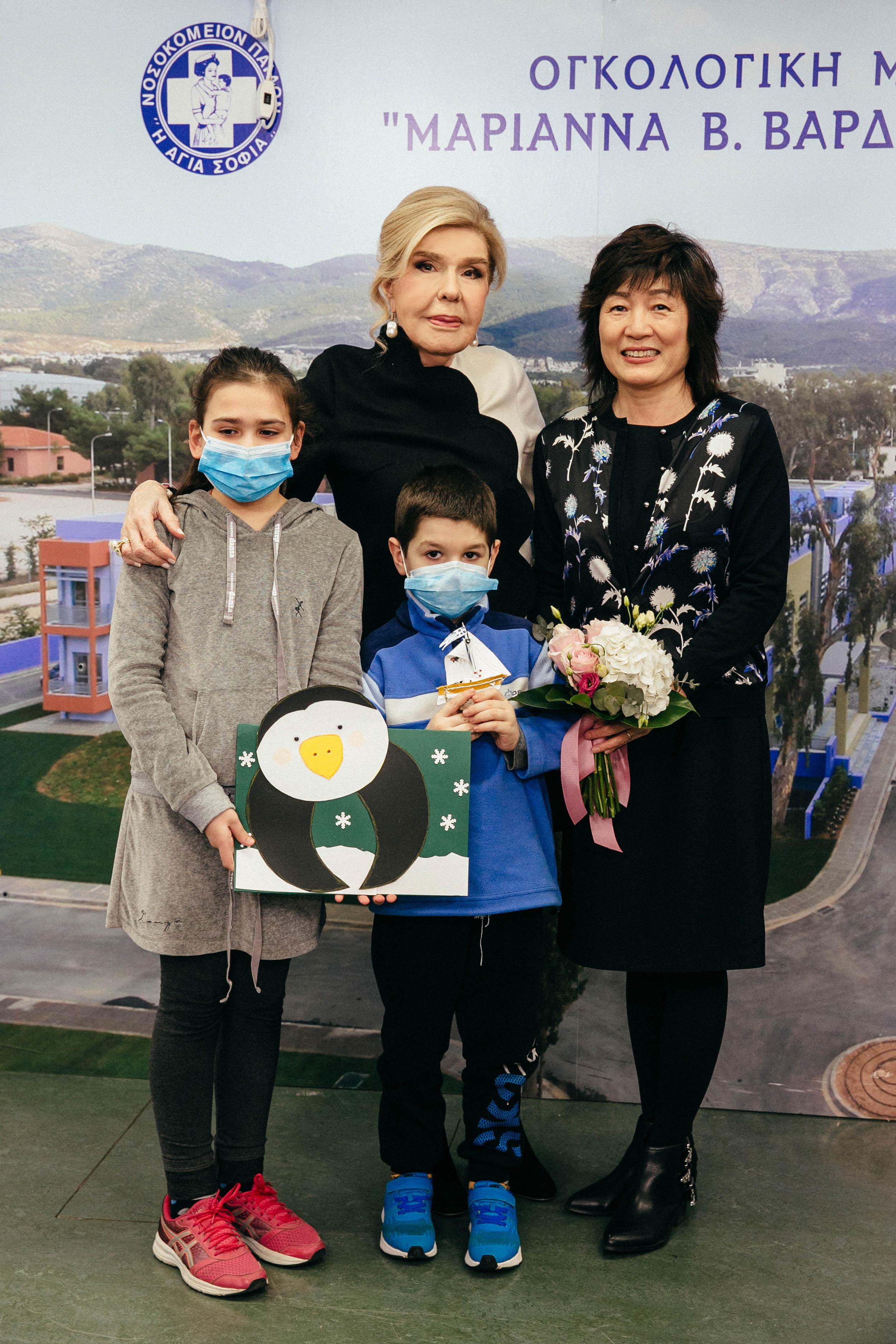 Η Μαριάννα Β. Βαρδινογιάννη με την Πρέσβειρα της Κίνας