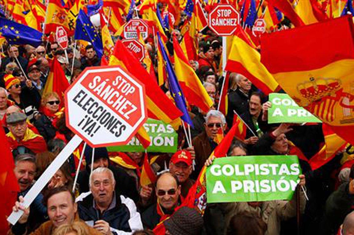 Μεγάλη αντικυβερνητική διαδήλωση στη Μαδρίτη για την Καταλονία