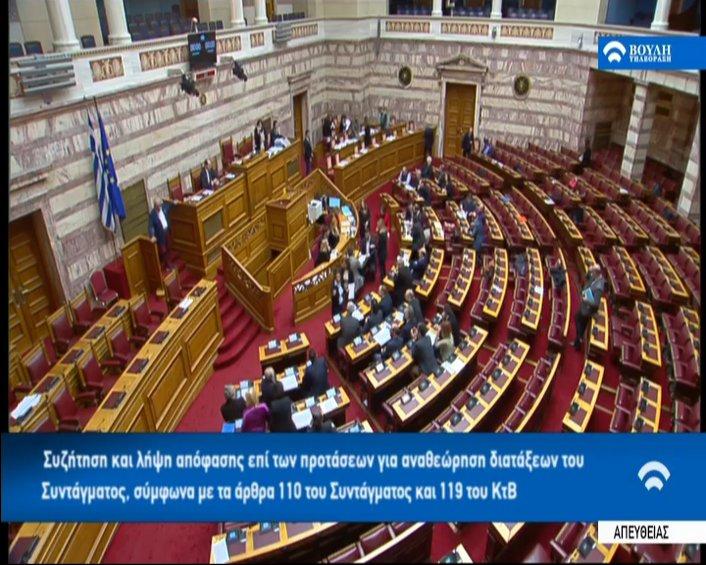 Τα αποτελέσματα της ψηφοφορίας για τη Συνταγματική Αναθεώρηση