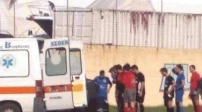 Ποδοσφαιριστής κατέρρευσε σε γήπεδο της Λέρου - Τον επανέφερε ο γιατρός του αγώνα