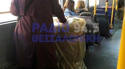 Γυναίκα ανέβηκε σε λεωφορείο του ΟΑΣΘ κουβαλώντας ένα βαρέλι πετρέλαιο - Ο οδηγός εκκένωσε το όχημα