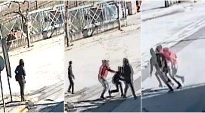 Εικόνες σοκ από άγρια επίθεση ανήλικων Ρομά σε γυναίκα με στόχο τη ληστεία στη Θήβα