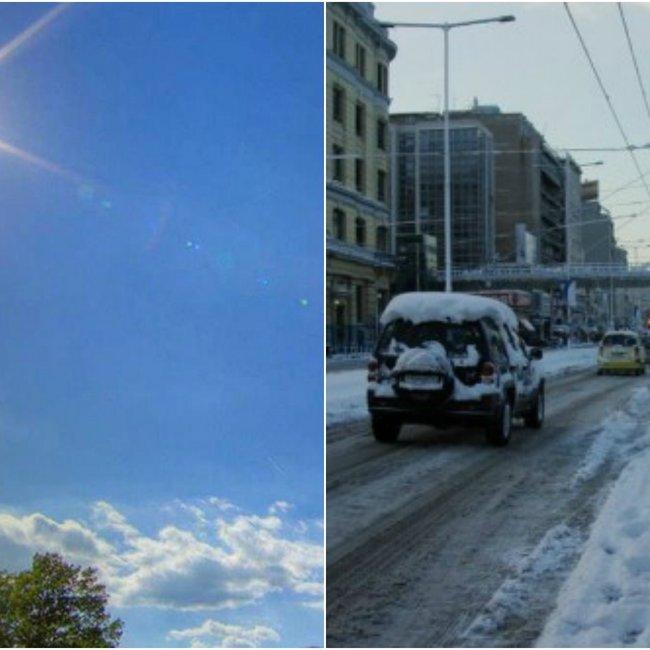 Ο καιρός τρελάθηκε! Από άνοιξη... βαρυχειμωνιά με παγωνιά και χιόνια στην Αττική