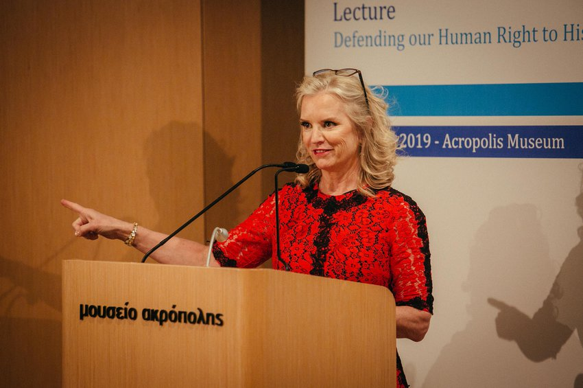 Η Kerry Kennedy κατά την διάρκεια της ομιλίας της