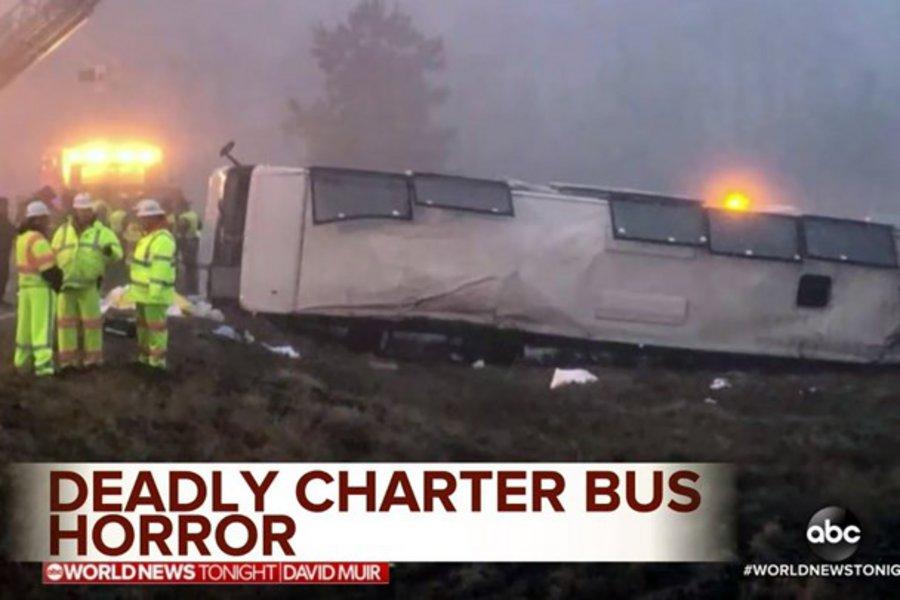 Ανετράπη λεωφορείο στη Βιρτζίνια: Δύο νεκροί και 12 τραυματίες