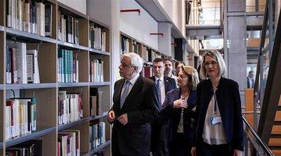 Εγκαίνια της Βιβλιοθήκης της Φιλοσοφικής Σχολής παρουσία του ΠτΔ
