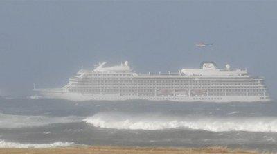 SOS εξέπεμψε κρουαζιερόπλοιο ανοιχτά της Νορβηγίας - Οι πρώτες εικόνες από την επιχείρηση απομάκρυνσης των 1.300 επιβατών