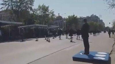 Με το «Μακεδονία Ξακουστή» ξεκίνησε η παρέλαση στη Θεσσαλονίκη