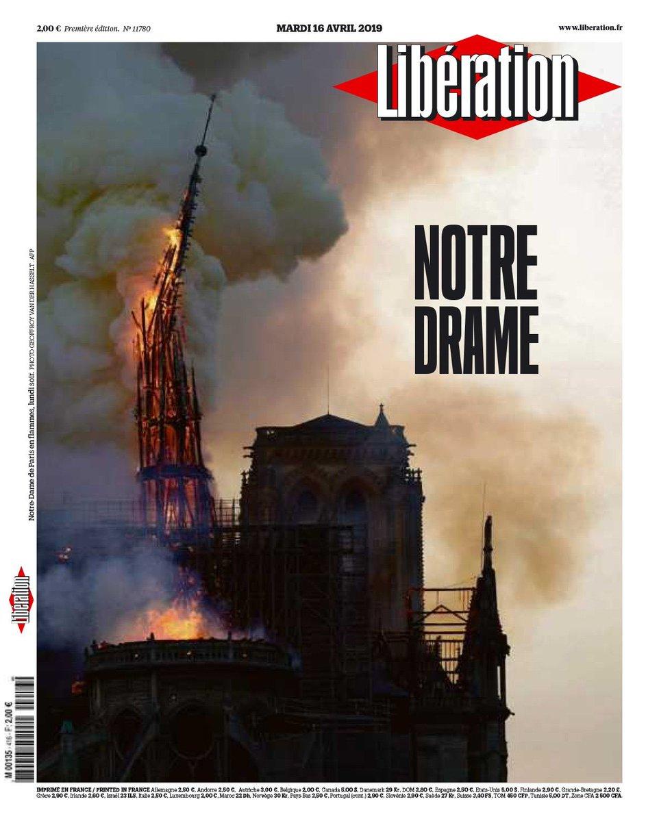 «Το Παρίσι θρηνεί την πολυαγαπημένη του κυρία» - Συγκινητικά πρωτοσέλιδα για την καταστροφή της Notre Dame