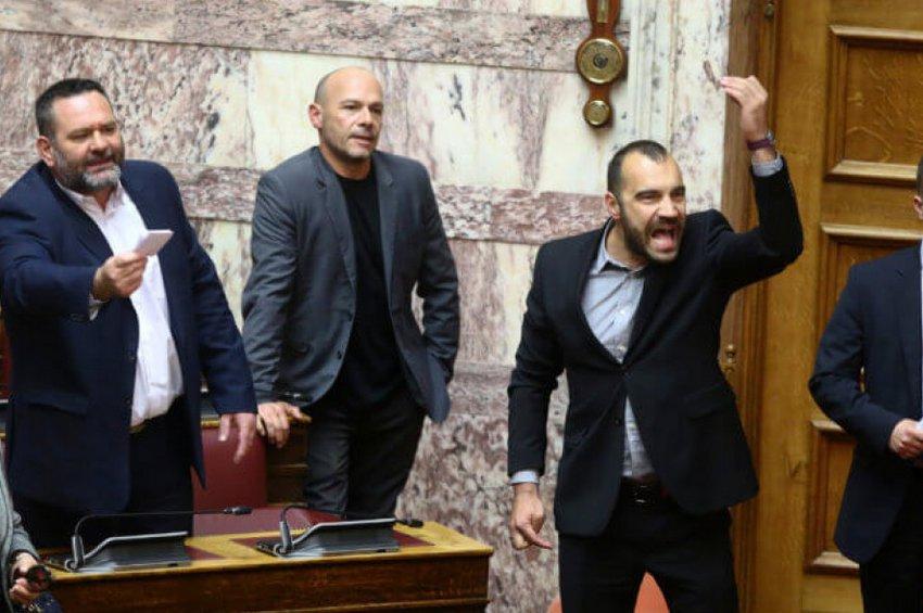 Βουλή: Επεισόδιο με τους Χρυσαυγίτες - Προεδρεύων: Περάστε έξω δολοφόνοι - Όλοι οι διάλογοι
