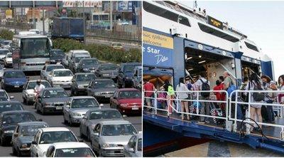 Κορυφώνεται η έξοδος - Ουρές και ταλαιπωρία στις Εθνικές οδούς - Εκτακτα μέτρα της Τροχαίας