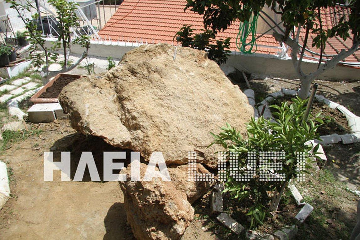 Κατάκολο: Ζημιές άφησαν πίσω τους οι σεισμοί - Βράχος έπεσε σε σπίτι