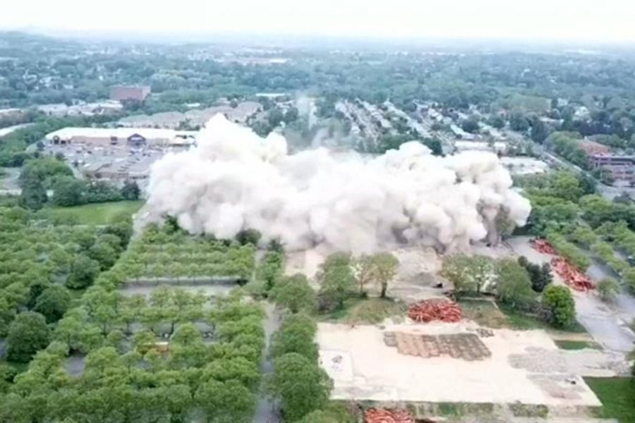 «Σκόνη» σε δευτερόλεπτα κτίριο 21 ορόφων