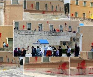 Καρέ-καρέ η επίθεση Ρουβίκωνα στη Βουλή - Ομόθυμη καταδίκη από τον πολιτικό κόσμο
