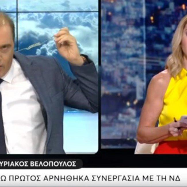 Καβγάς Βελόπουλου - Στάη στον τηλεοπτικό αέρα: Αποχώρησε από την εκπομπή ο πρόεδρος της Ελληνικής Λύσης