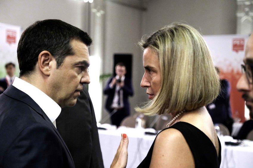 Τσίπρας και Μογκερίνι συζήτησαν ποια θα είναι τα πιο αποτελεσματικά μέτρα κατά της Τουρκίας