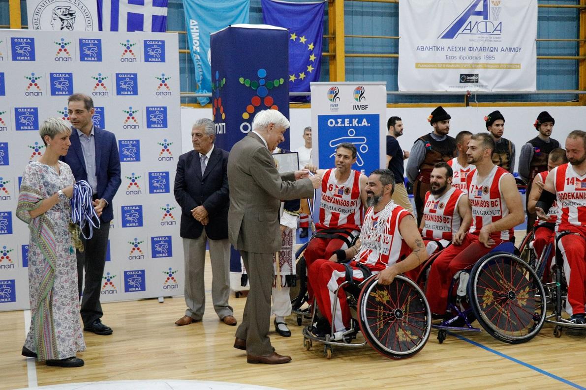 Ο Πρόεδρος της Δημοκρατίας, κ. Προκόπιος Παυλόπουλος στην απονομή των μεταλλίων στους νικητές