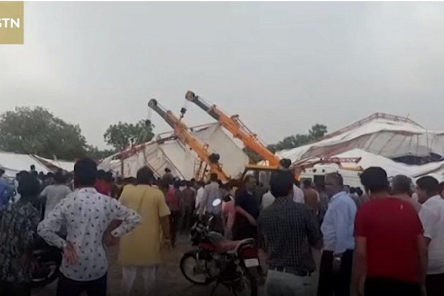 Τραγωδία στην Ινδία: Κατέρρευσε τέντα - Τουλάχιστον 14 νεκροί