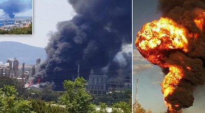 Ισπανία: Τεράστιο νέφος καπνού κοντά στο Γιβραλτάρ, μετά από πυρκαγιά σε εργοστάσιο χημικών