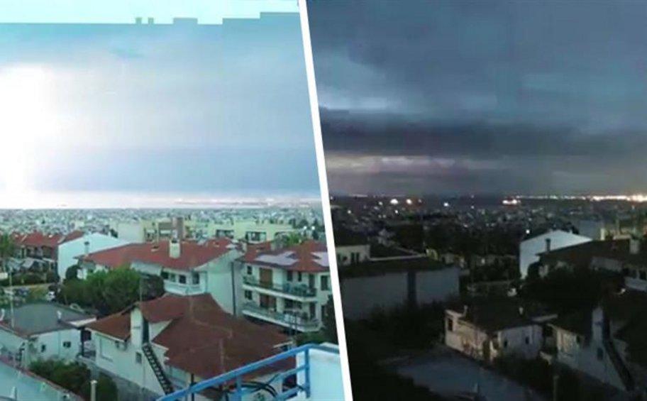 Συγκλονιστικό βίντεο από την εξέλιξη της φονική κακοκαιρίας στην Χαλκιδική