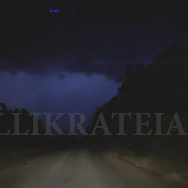 Η στιγμή της φονικής καταιγίδας μέσα από την κάμερα ενός οδηγού