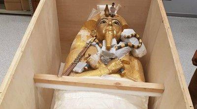 Αίγυπτος: Η επίχρυση σαρκοφάγος του Τουταγχαμών συντηρείται για πρώτη φορά στην ιστορία της