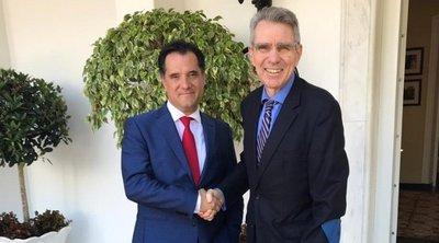 Συνάντηση Γεωργιάδη – Πάιατ: Σημαντικά περιθώρια ανάπτυξης των ελληνοαμερικανικών σχέσεων βλέπει ο πρέσβης των ΗΠΑ