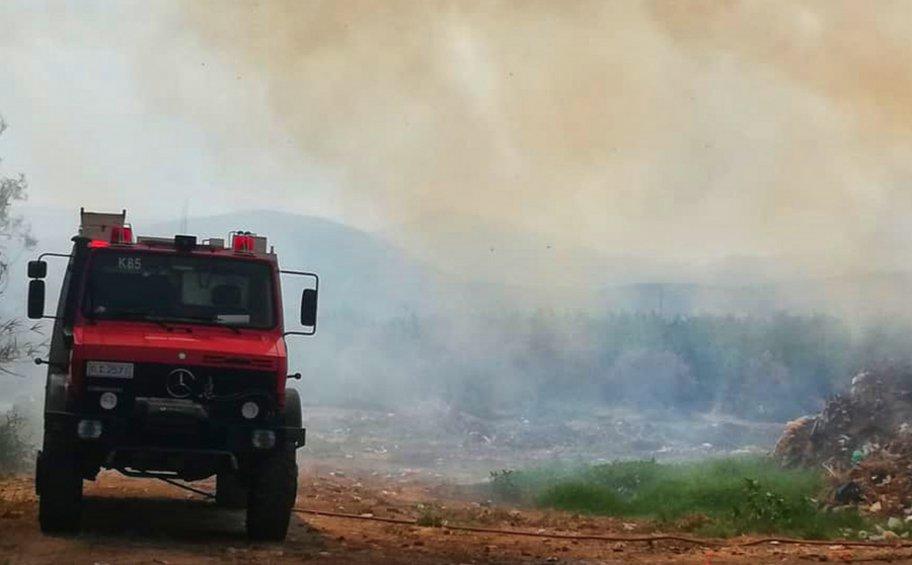 Ζάκυνθος: Πυρκαγιά στη θέση Κάναλος στο χωριό Αργάσι
