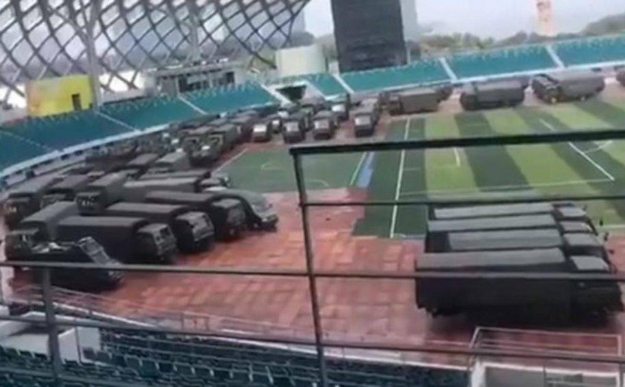 Εμπόλεμη ζώνη θυμίζει πόλη Σενζέν στην Κίνα που θα φιλοξενήσει αγώνες του Μουντομπάσκετ
