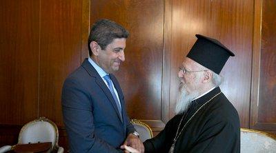 Ο υφυπουργός Πολιτισμού και Αθλητισμού Λευτέρης Αυγενάκης στο Οικουμενικό Πατριαρχείο