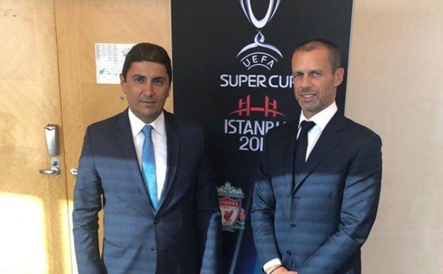Συνάντηση Αυγενάκη με Τσέφεριν: Η UEFA αρωγός στις πρωτοβουλίες της αθλητικής ηγεσίας